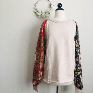 Free People Floral/Paisley Sweatshirt